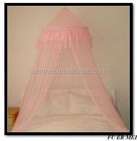 pink hanging bed canopy