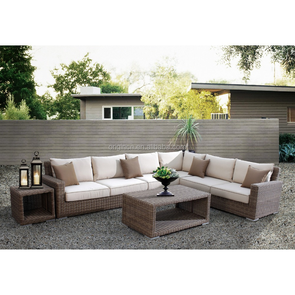 Newly Arrival Luxury Comfortable Cube Garden Furniture Outdoor Rattan 7 Seater Sofa Set Buy 7