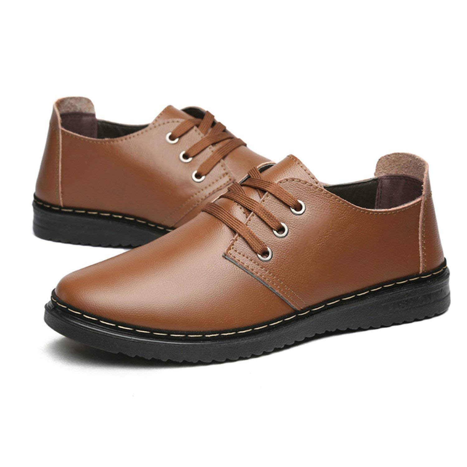 5f5be2bf71c7 Buy Memoriesed Autumn New Casual Shoes Mens Leather Flats Lace-up ...