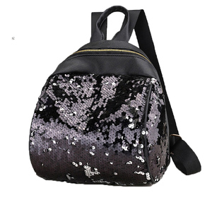 Oujia brand Women Sequin Backpacks For Teenage Girls Rucksack New Fashion tactical leather backpack