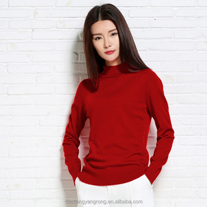 top quality custom flat knitted wool sweater designs for ladies