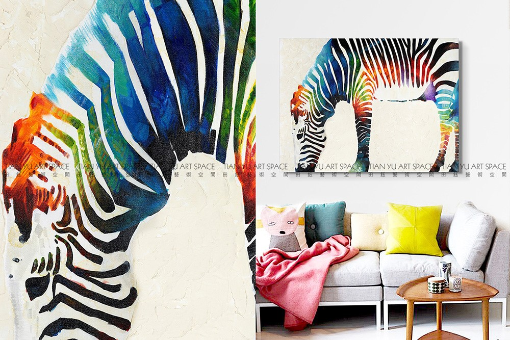 2016 Newest Zebra Oil Painting Pictures Modern Bed Room Decorating ...