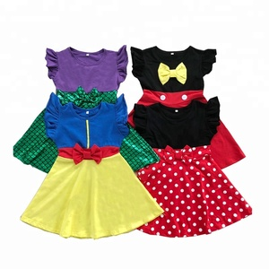 859e6ab8d77b0 Wholesale boutique summer fancy mickey dress girl acting or gift ruffle  dresses printing princess dresses for girls fall winter
