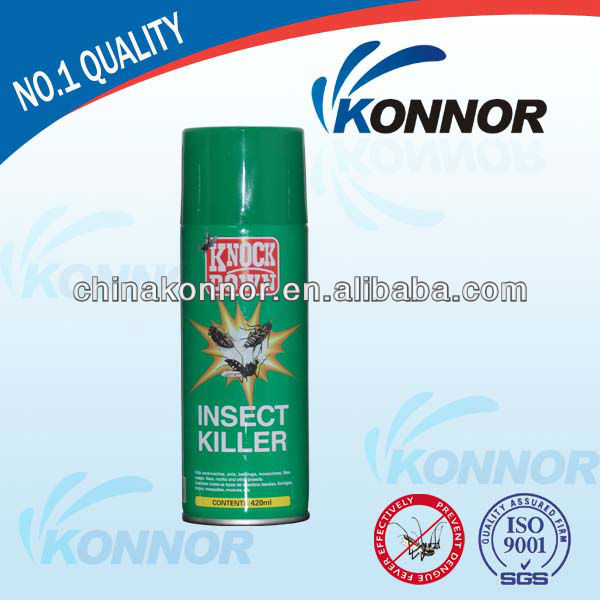 Green Can Knock Down House Insect Killer Spray