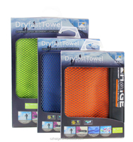 Super absorbent microfiber gym yoga sport towels with mesh bag