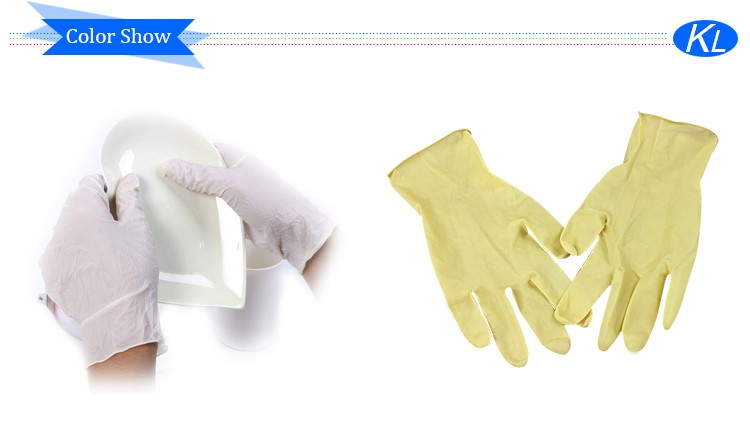 Red Medical Examination Coated Latex Gloves With Eco-friendly ...