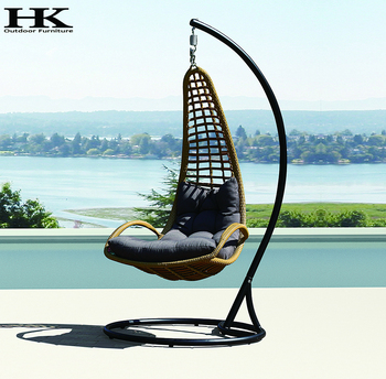 rattan wicker hanging garden swing chair