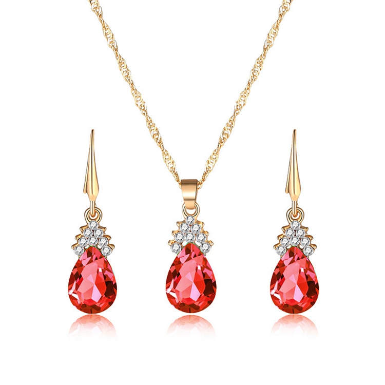 MSYO brand Europe and America set auger crystal jewelry set necklace earring jewelry set