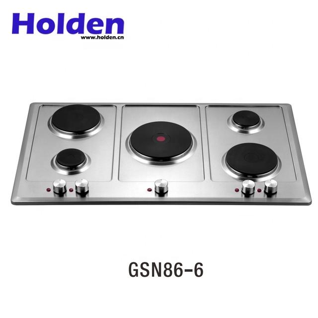 Gsn86 6 Built In 5 Burner Solid Element Electric Cooktops