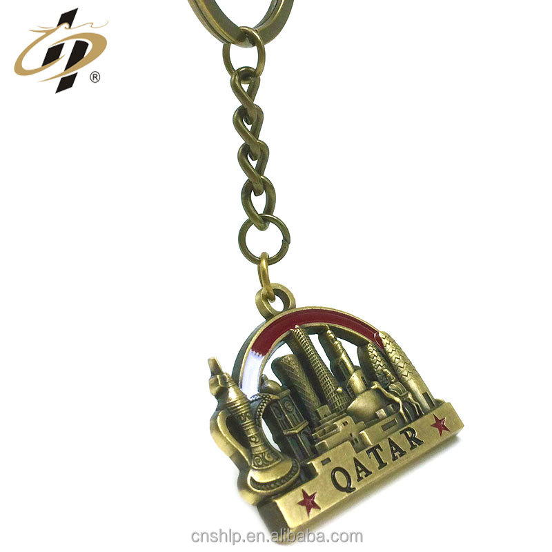 No MOQ top quality cheap custom alloy gold enamel warrior blank keychain key ring