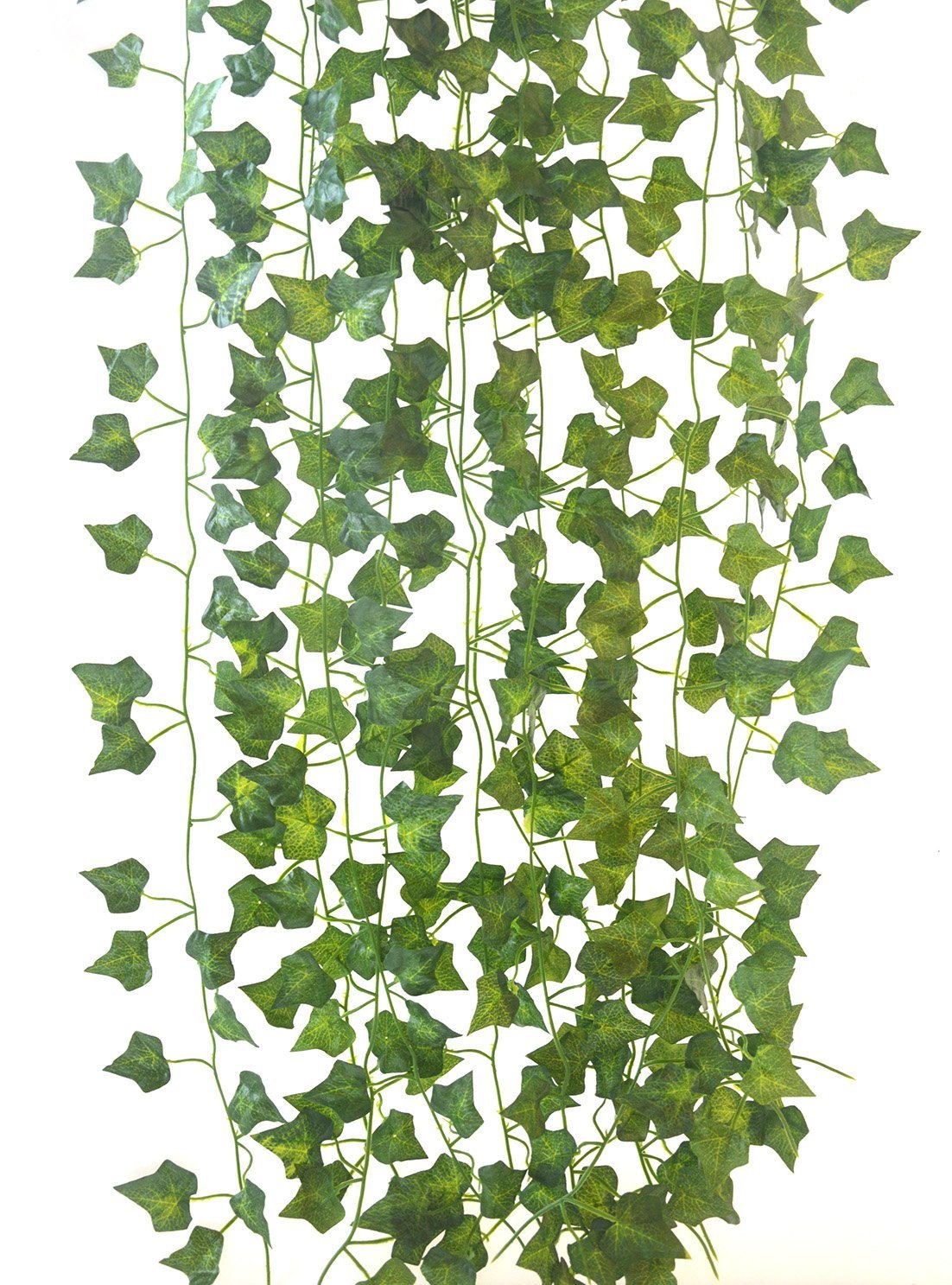 84Ft-12 pcs Artificial Ivy Leaf Garland Fake Plants Flowers Ivy Artificial Hanging Vines Artificial Leaves Garland Fake Ivy Plant leaf Garland Decor for kitchen Wedding Party Garden Outdoor (Ivy)