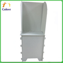 Foldable corrugated plastic polling booth for one person