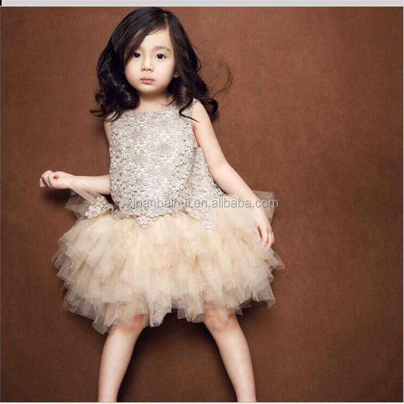 7c02e67cf42cd4 Koreanischen stil blume mädchen net kleider champagne kinder vintage kleider  mädchen weste kleid muster für 3