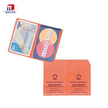 Custom Full Color Print Cheap Pvc Card Holder Business Card Pouch