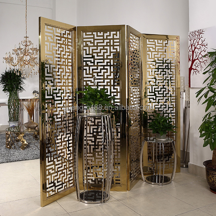 Japanese folding screen for sale lazymoon 4panel steel for Cheap decorative screens