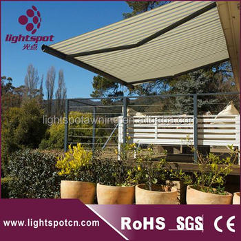 Retractable Motorized Van Awnings Commercial Shop Sunshade With Aluminum Frame