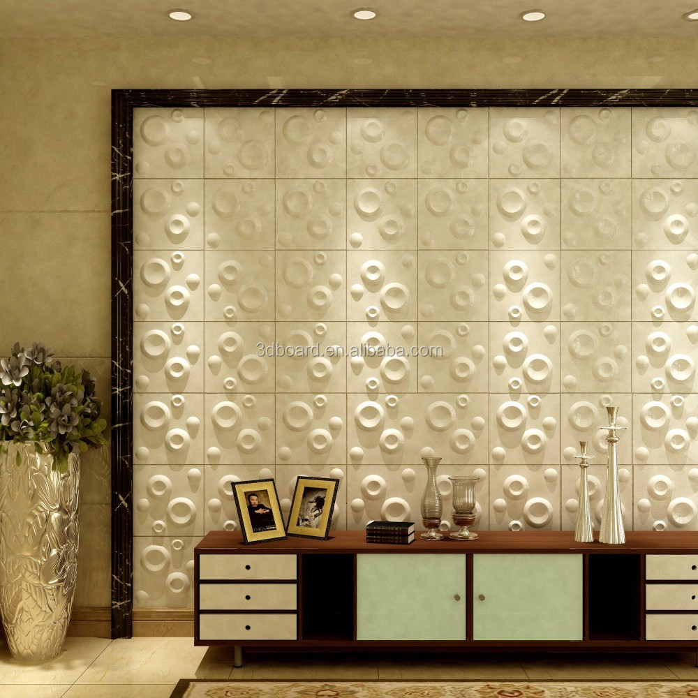 Hotels Wall Decoration White Color Pvc 3d Interior Wall Panels - Buy ...