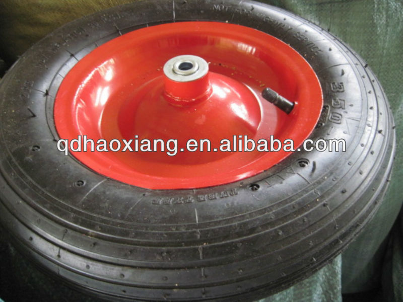 semi-pneumatic rubber wheel PR1804/3.5-4
