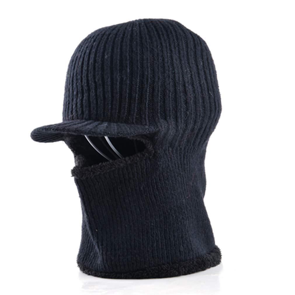 97b112f0918 Get Quotations · EBRICKON Thickening Knitted Wool Cap Men s Winter Hat Keep  Warm Beanies Men Bonnet Balaclava Face Mask