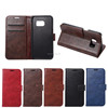 Crazy Horse Leather Wallet Mobile Case Phone Socks for Samsung Galaxy S7 Edge Wallet Case