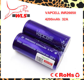 Vapcell INR26650 4200mah 32A strongest power high drain Li-ion rechargeable battery IJOY 26650