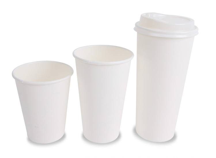 Plain White Paper Cup Different Sizes Coffee Cups