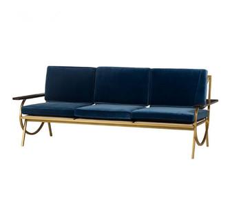 Three Piece Velvet Sofa Modern Living