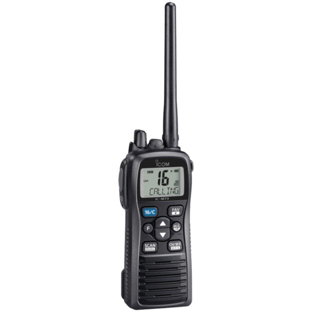 ICOM M73-01 6W Submersible Handheld VHF Radio 18-hr Battery Life Consumer Electronics
