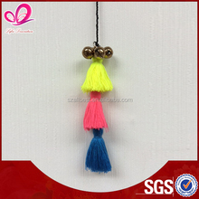 2015 Fashion Custom Colorful Women's small cotton tassel for bag decoration