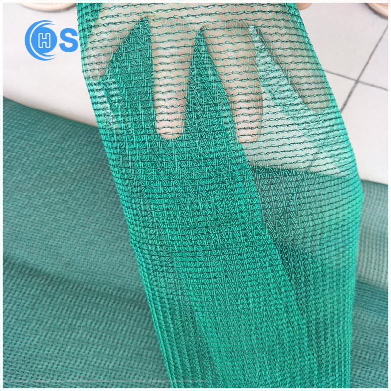 smooth black agricultural sun shade net car parking sun shade net with blue hem with eyelet