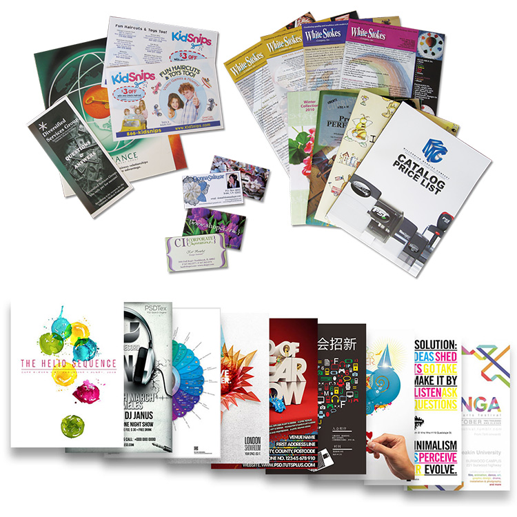 Custom printing color advertising flyers brochures and pamphlets