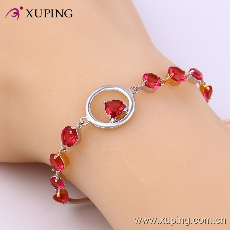 Wholesale Fashion Copper Alloy Red Stone Special Design Friendship Bracelets