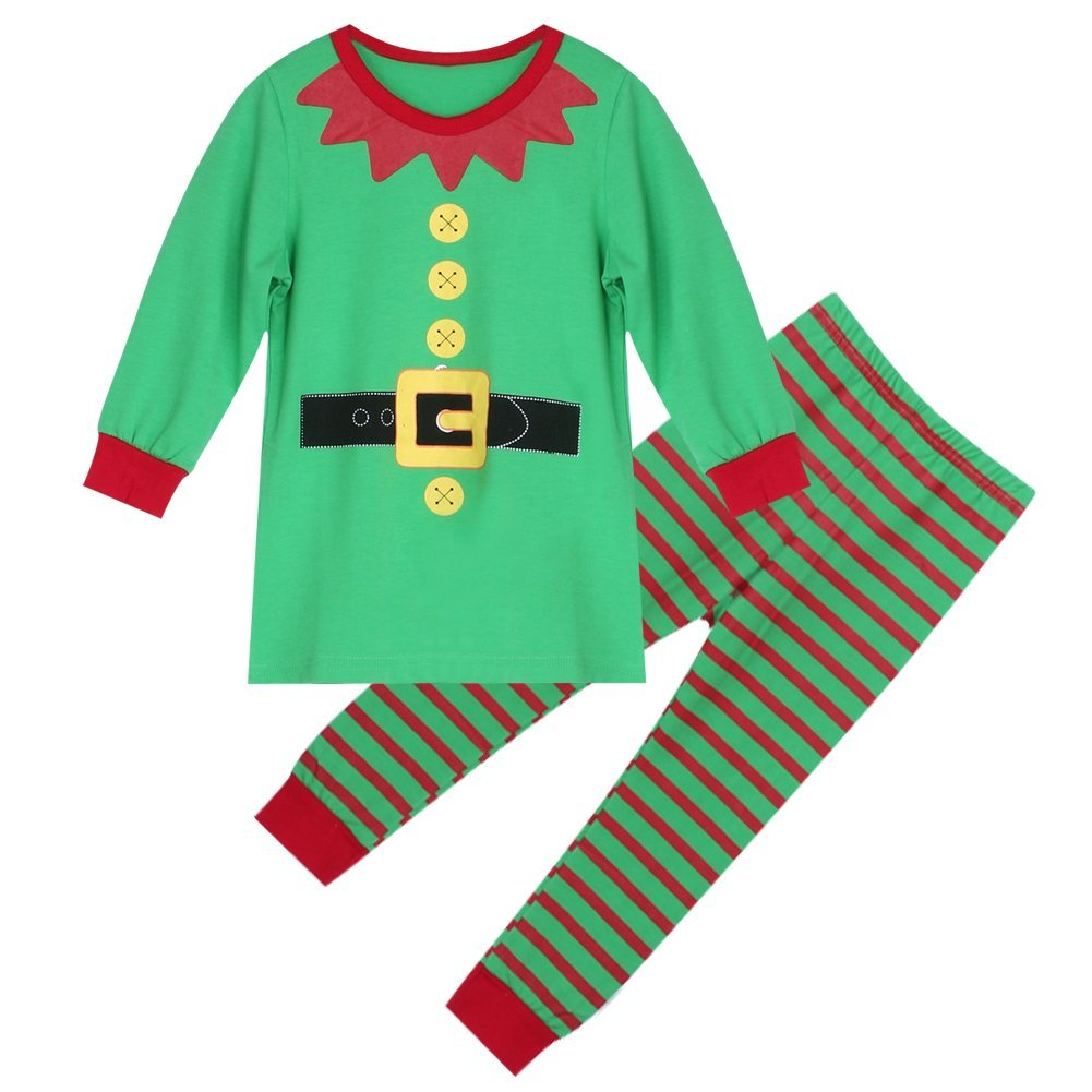 67601dc75 Get Quotations · Diamondo Christmas Santa Claus Kid Clothes Toddlers Suit  Baby Boys Girls Clothes Set (for 1
