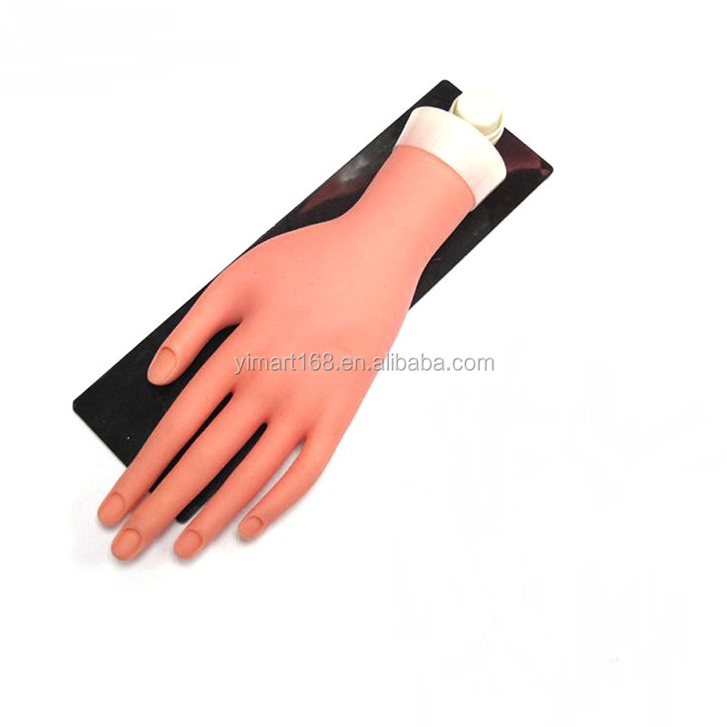 Yimart Plastic Nails Trainer Practice Mannequin Hand With Stand And ...