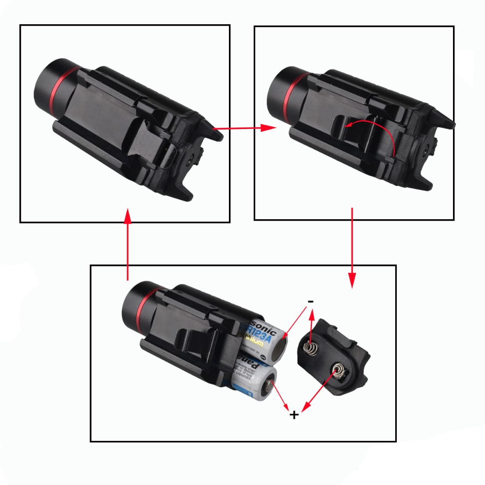 2016 hot sale pistol led night vision weapon sight laser pointers torch
