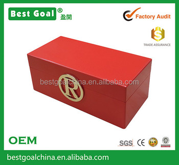 High Quality Initial Jewelry Box With Metel Letter Buy High