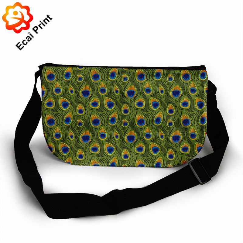 2016 dropship custom made sublimated messenger bag men over the shoulder