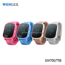 Wonlex high quality gsm smart watch phone china T58/GW700 with sos gps/lbs tracker for adult