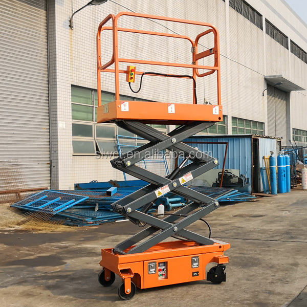 Portable Battery Powered Mobile Electric Lift Work Platform boom lift