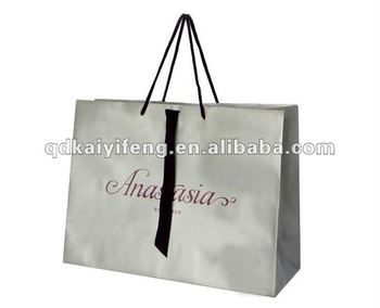 White Ping Paper Bags With Diffe Handle Types