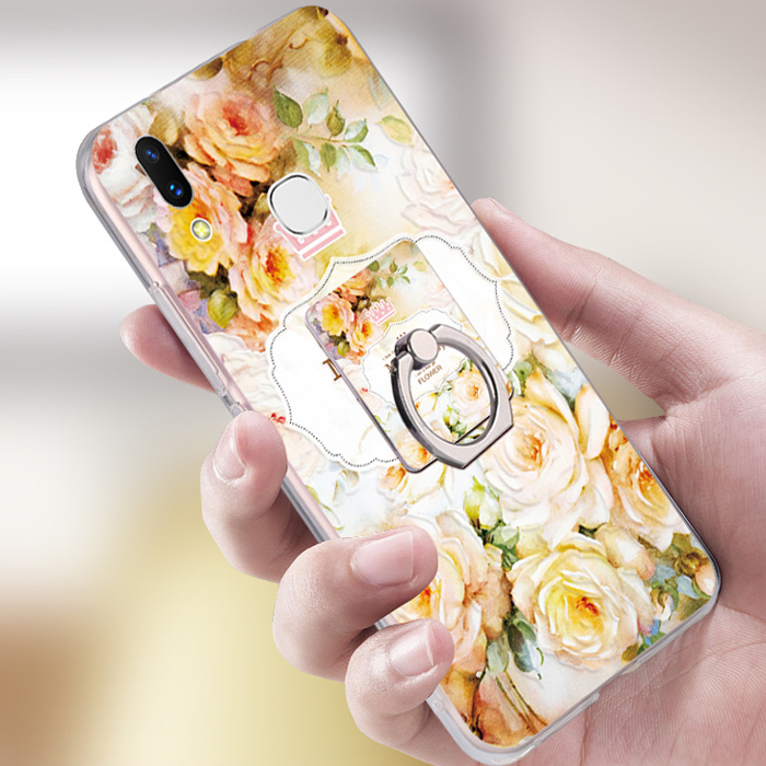Any Design Available 3D Emboss Flower Angel Secret Park Case For Vivo V9 Ring Phone Case With String