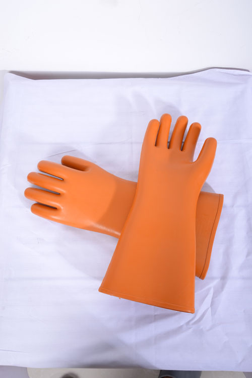 10 Kv Rubber Latex Electrical Insulated Working Gloves
