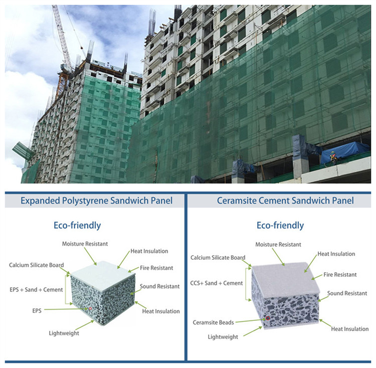 Non Metalen Chili Huis Kits Sip Panelen Voor Tijdelijke Dak Panel