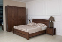 2014 Nature style wooden bedroom furniture set was made from American ash wood for bedroom furniture sets