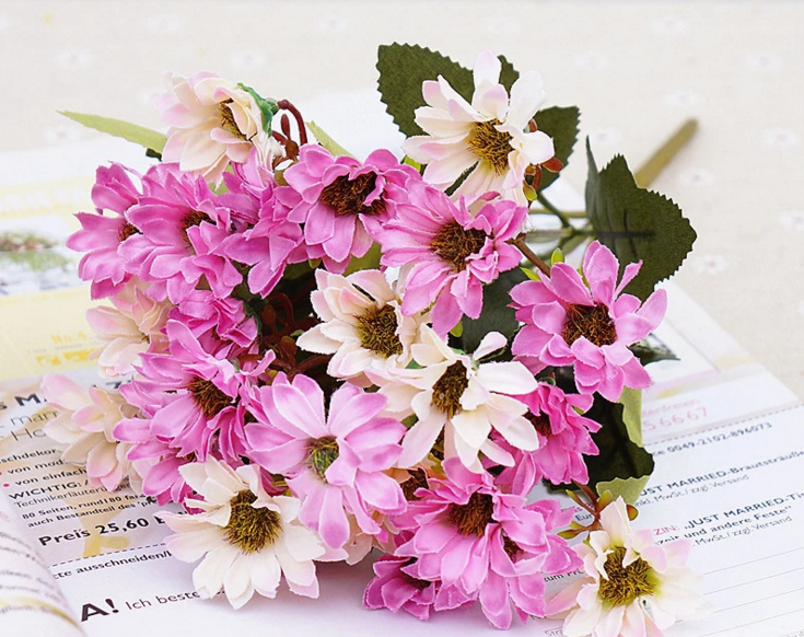 Wholesale High Quality Artificial Silk Daisy Flower Bouquet For ...