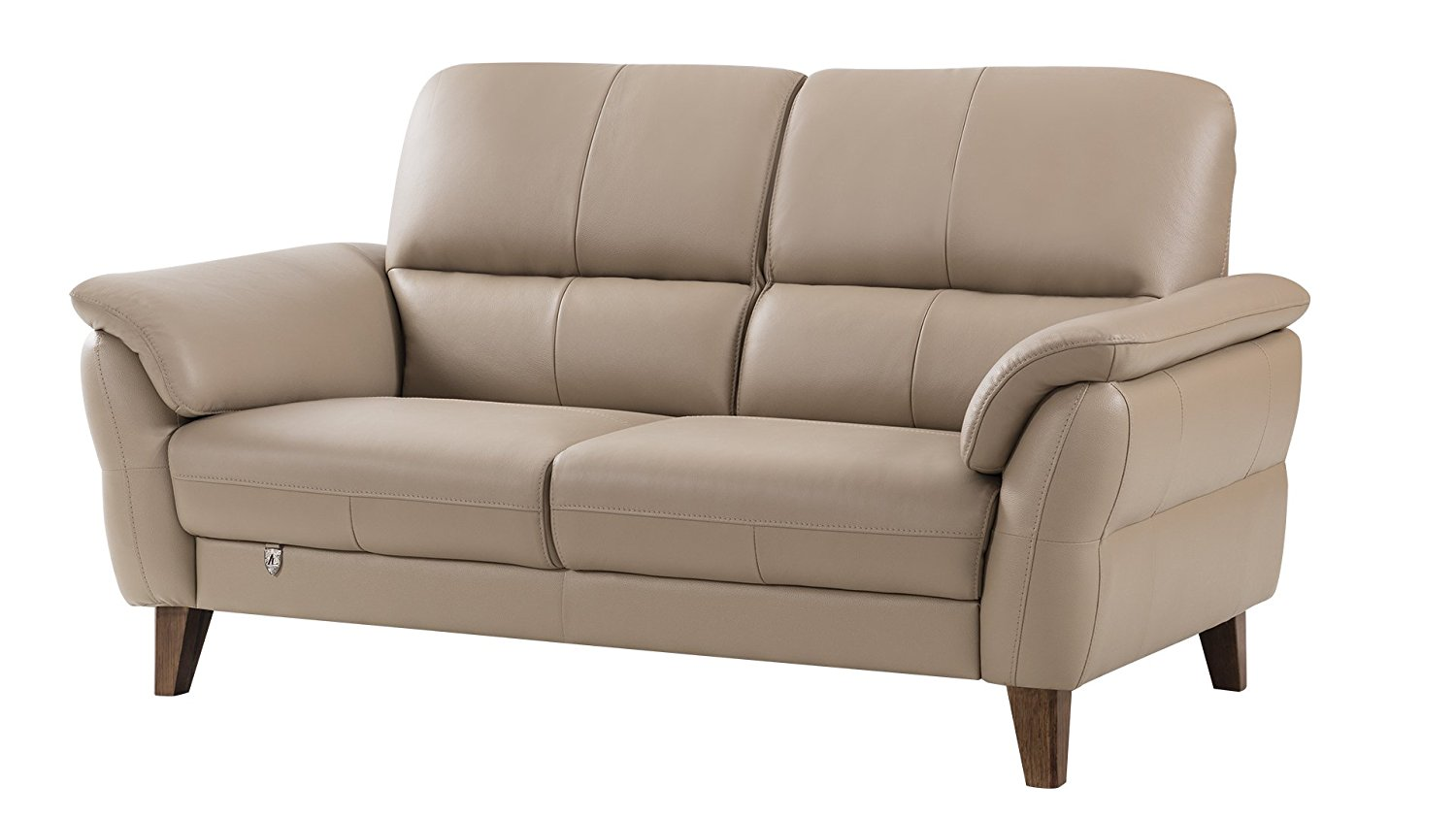American Eagle Furniture King Collection Living Room Top Grain Italian Leather Loveseat, Tan