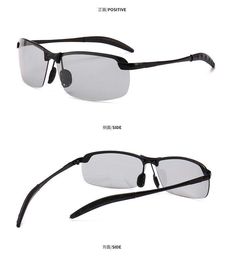 Photochromic Sunglasses Men Polarized driving Chameleon Glasses Male Change Color SunGlasses  Day Night Driving Eyewear