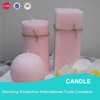 Customized wholesale fragrance oil pink candle for home decoration