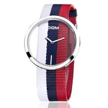 Женские часы DOM марка роскошные Мода Повседневная кварц Уникальный Стильный Полые скелет часы кожа Леди спорта наручные часы 205L(Китай)
