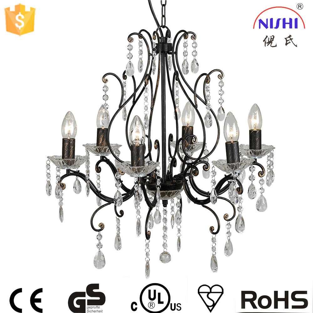 hotel designed cheap antique chandelier/CE&UL certification acrylic chandelier 25 years factory in china NS-120098